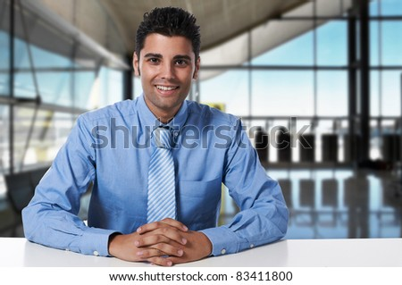 young successful business man at office