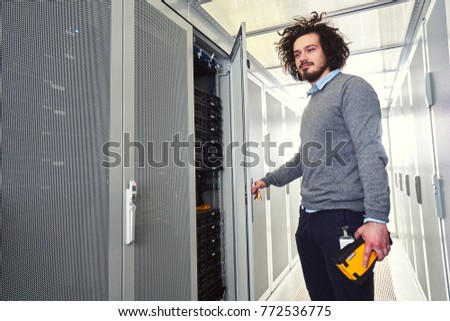 Young technician working #772536775