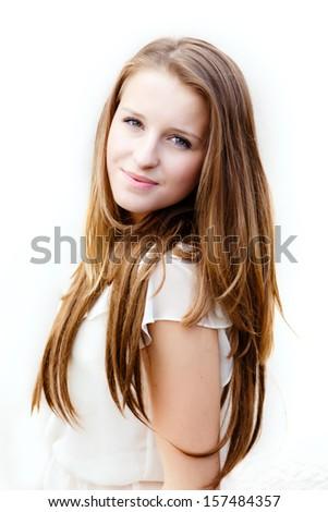 Young teenage girl portrait