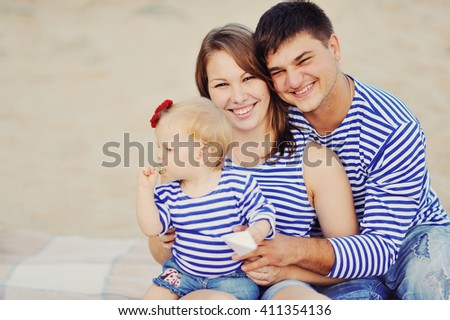 young the seaman on vacation with parents #411354136