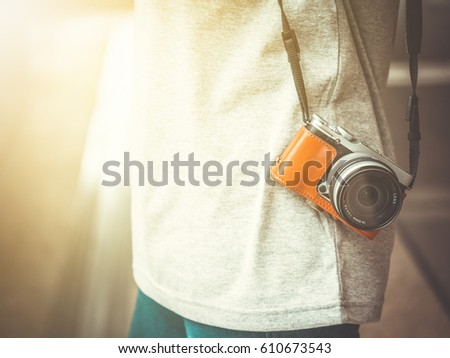 young tourist women carry a...