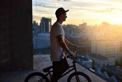 Young urban bmx rider