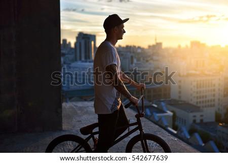 Young urban bmx rider #542677639