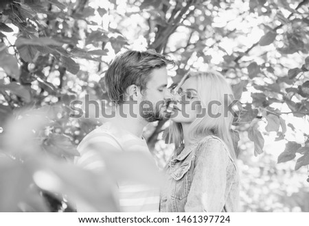 Young woman and young man are hugging and smiling #1461397724