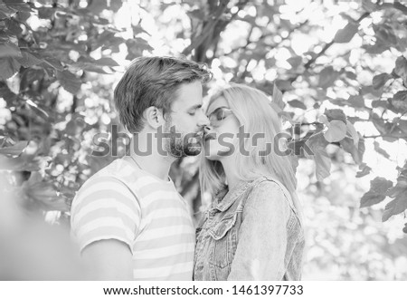 Young woman and young man are hugging and smiling #1461397733