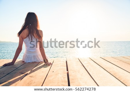 Young Woman By The Sea ストックフォト ©