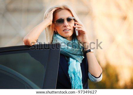 Young woman calling on the phone