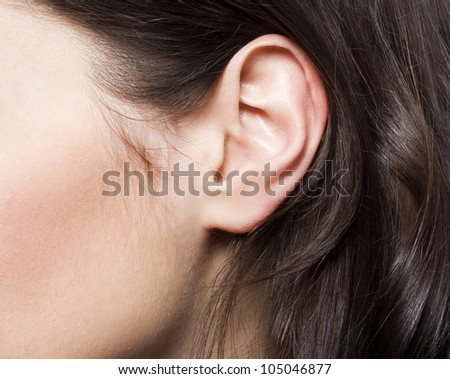Young woman ear