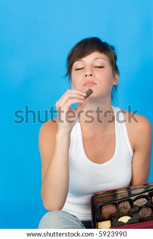 young woman enjoy sweets