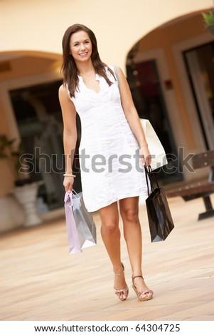 Young Woman Enjoying Shopping Trip