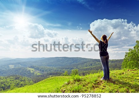 Young woman enjoying the fresh air.