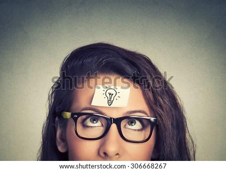 Young woman has a good idea