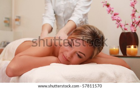 young woman having massage procedure