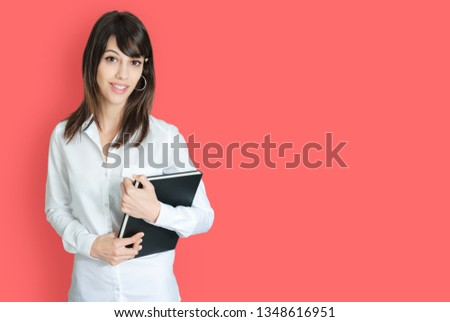 Portrait Young Woman Holding Book Images And Stock Photos