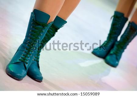 Young woman in authentic retro majorette uniform