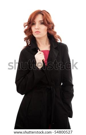 Black Long Raincoat - All Outerwear > - Austin Reed