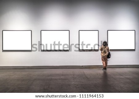young woman in gallery Сток-фото ©