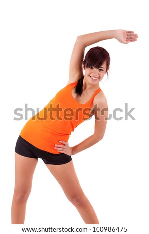 Young woman in great shape - fitness concept