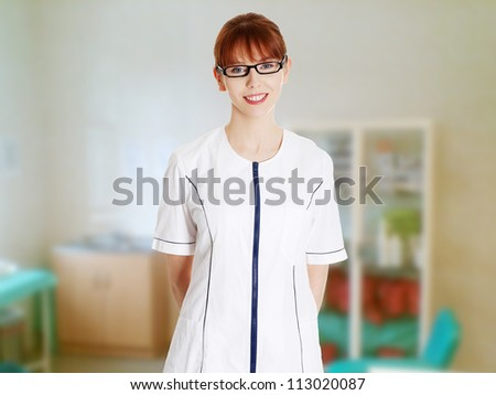 Young woman in healthcare worker uniform doctor for Spa worker uniform