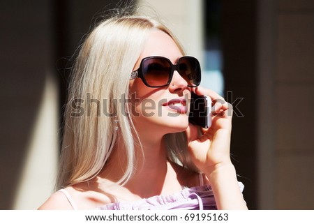 Young woman on the phone.