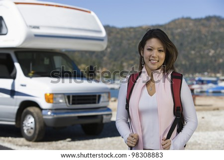 Young Woman on Vacation