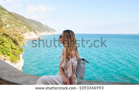 Young woman on vacation, Italy