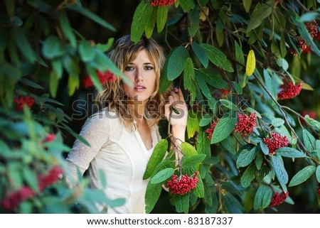 Young woman  outdoors .
