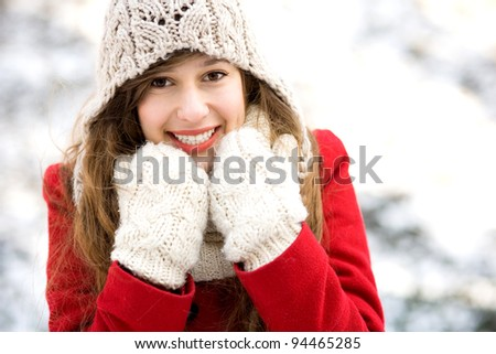 Young woman outdoors in winter