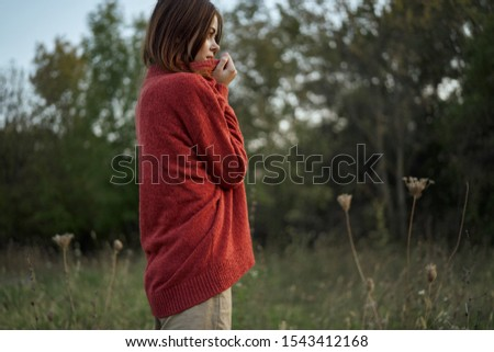 young woman outdoors model girl resting #1543412168