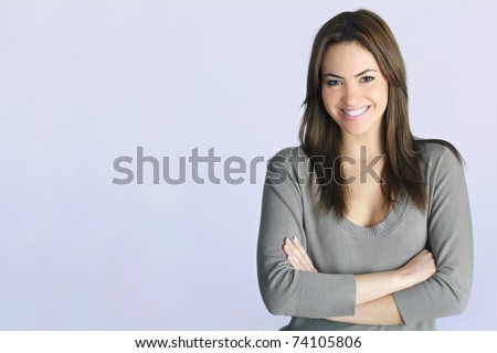 young woman portrait in studio