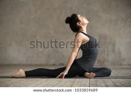 rajakapotasana routine stock photos stock images and