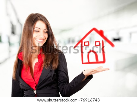 Young woman real estate concept