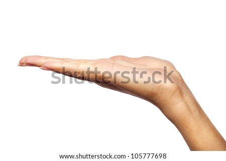 Young woman�s hand holding something