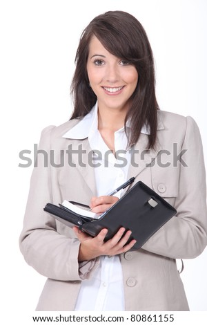 Young woman scheduling an appointment