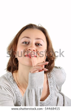 Young woman shhhh....its a secret