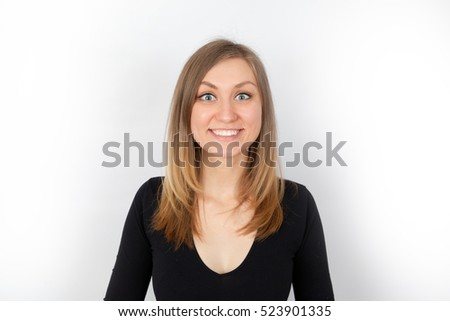young woman smiling #523901335