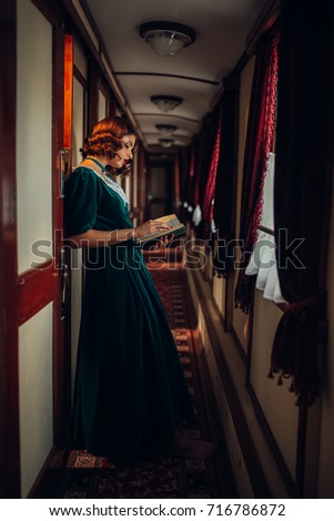 young woman travels  vintage...