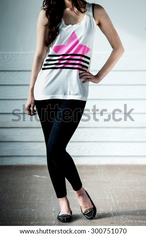 f6c6336810caf Free photos Young woman wearing blank sleeveless t-shirt
