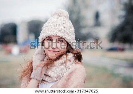 Young woman winter portrait