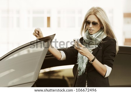 Young woman with a mobile phone