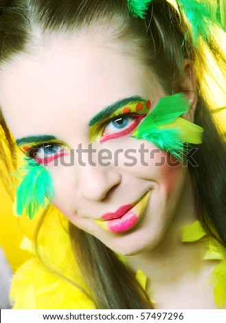 young woman with creative make up - Shutterstock ID 57497296