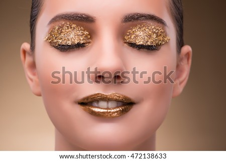 Young woman with elegant makeup #472138633