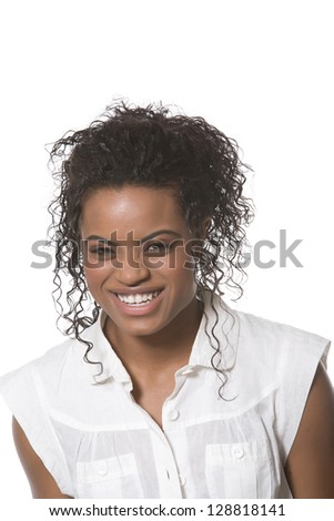 Young woman with happy smile