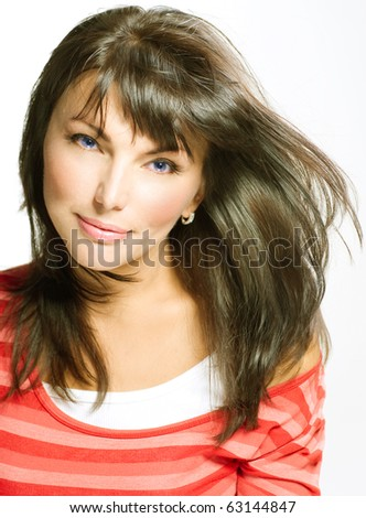Young Woman with healthy hair portrait