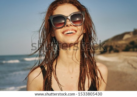 young woman with pretty smile pretty girl #1533805430