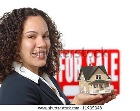 Young woman working as a real estate agent