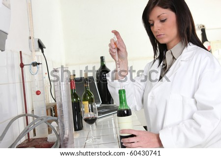 Young woman working in a laboratory Stockfoto ©