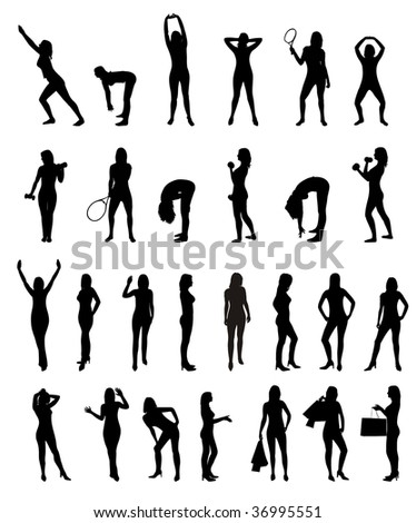 Young Women Collection - set of silhouette