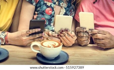 Young Women Drinking Coffee Concept #515927389