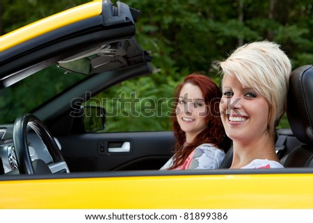 Young women going for a drive